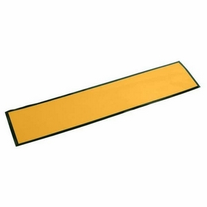 YELLOW SELF ADHESIVE OBLONG NUMBER PLATE